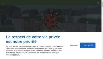 Site internet de Coutant Paysages