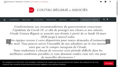 Site internet de Societe Couteau-Begarie
