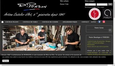 Site internet de David Ponson Coutelier d'Art