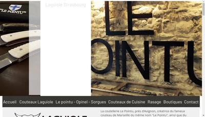 Site internet de Coutellerie le Pointu