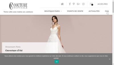 Site internet de Couture Nuptiale le Fil du Bonheur