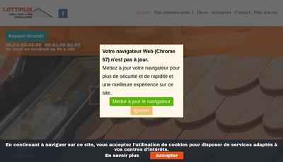 Site internet de SARL Lottiaux Freres