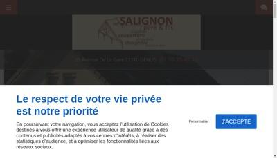 Site internet de SARL Salignon Pere et Fils