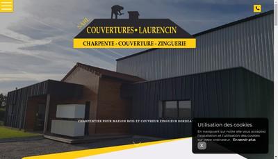 Site internet de SARL Couvertures Laurencin