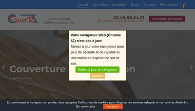 Site internet de SARL Couvr Bat