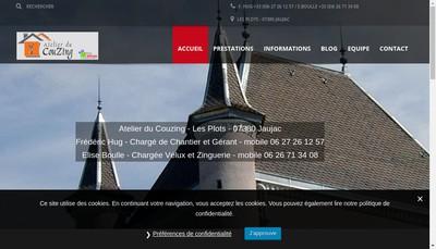 Site internet de L'Atelier du Couzing
