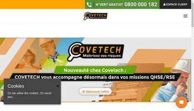 Site internet de Covetech