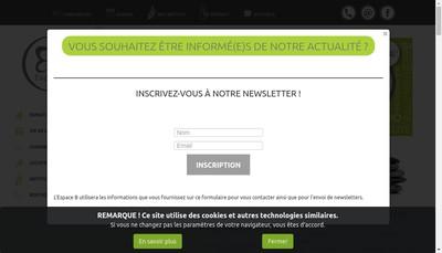 Site internet de Espace B