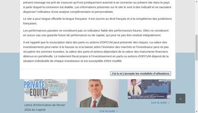 Site internet de Mirabeau Patrimoine