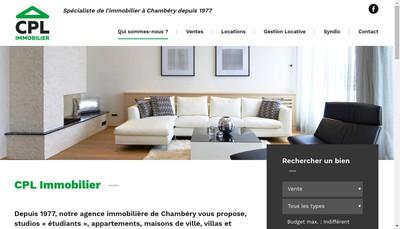 Site internet de Cpl Immobilier