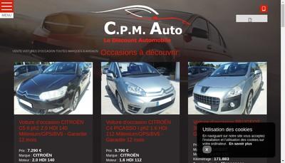 Site internet de CPM Auto