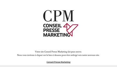 Site internet de Conseil Presse Marketing