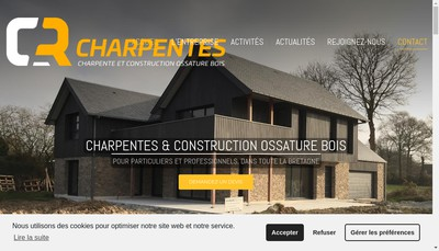 Site internet de Cr Charpentes
