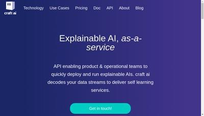 Site internet de Craft Ai