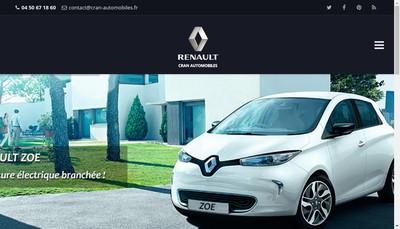 Site internet de Cran Automobiles