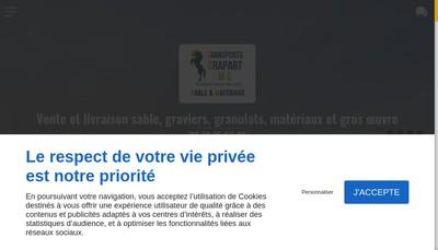 Site internet de Transport Crapart