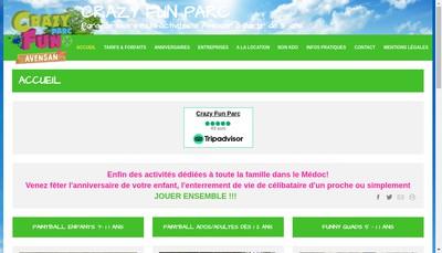 Site internet de Crazy Fun Parc