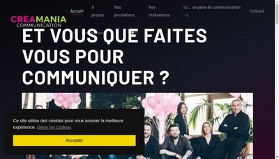 Site internet de Creamania