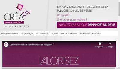 Site internet de Crea Plv