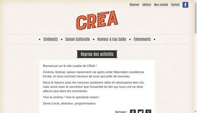 Site internet de Association Crea