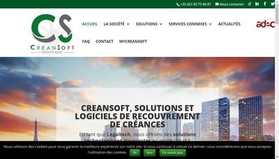 Site internet de Creansoft