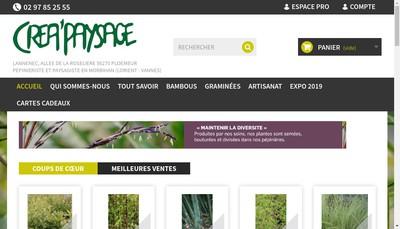 Site internet de Crea Paysage