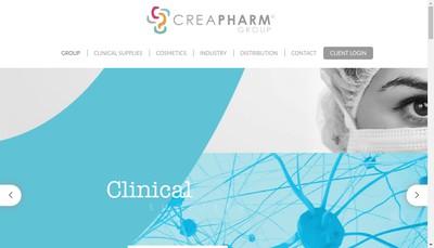 Site internet de Creapharm Clinical Supplies