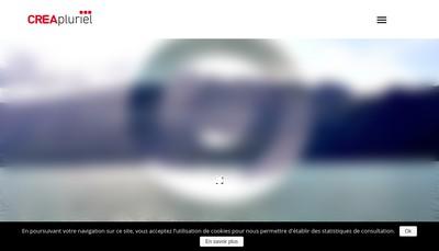 Site internet de Crea Pluriel Communication Graphique