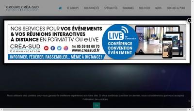 Site internet de Crea Sud Communication