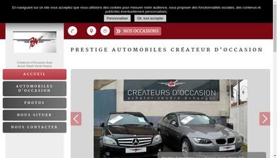 Site internet de Createur d'Occasion Prestige Automobiles