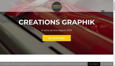 Site internet de Creations Graphik