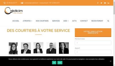 Site internet de Credicimmo-Credicim