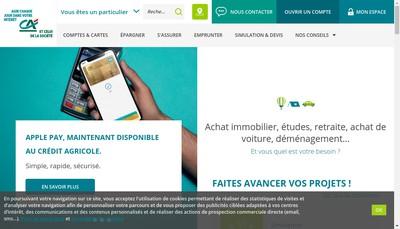 Site internet de Crédit Agricole