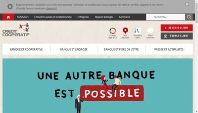 Site internet de Union des Societe du Credit Cooperatif