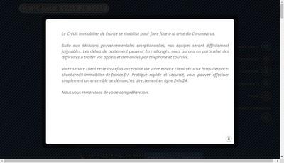 Site internet de Credit Immobilier de France Developpement