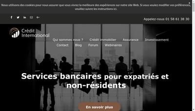 Site internet de Credit International