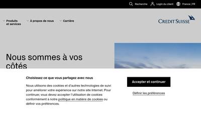 Site internet de Credit Suisse Investments Ii (France) SAS