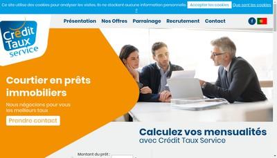 Site internet de Credit Taux Service