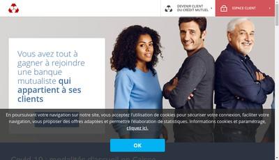 Site internet de Caisse Federale du Credit Mutuel de Maine Anjou et Basse Normandie