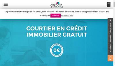 Site internet de Credixia Diffusion