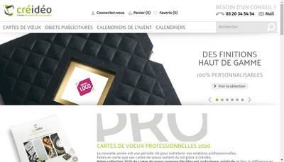 Site internet de Creideo