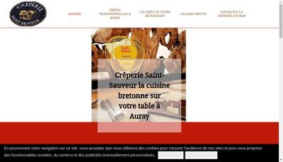 Site internet de Creperie Saint-Sauveur