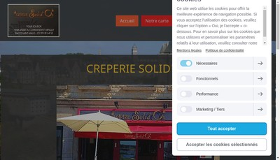 Site internet de Creperie Solidor