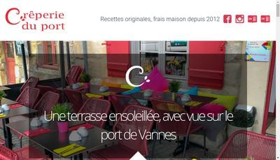 Site internet de Creperie du Port