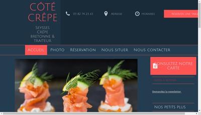 Site internet de Crepes & Creations Traiteur
