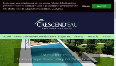 Site internet de Crescend'Eau