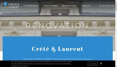 Site internet de Societe Crete et Laurent