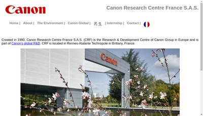 Site internet de Canon Research Centre France