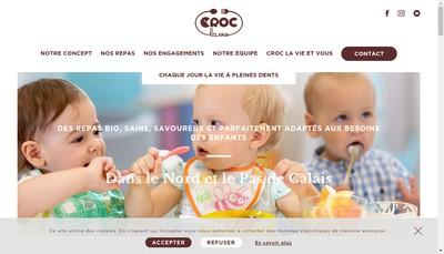 Site internet de Croc la Vie