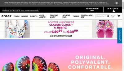 Site internet de Crocs France